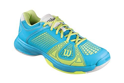 Wilson Women's Rush NGX Tennis Shoe-Oceana/Cyber Green/White (7.5) (Shoes Tennis Women Wilson)