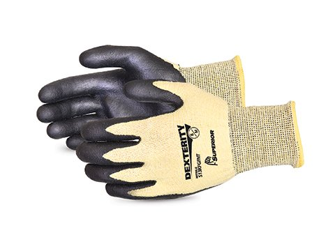 Dexterity Nitrile Palm-Coated Cut-Resistant String-Knit Glove, Size 5