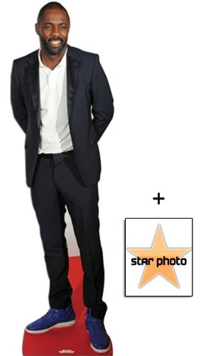 Fan Pack - Idris Elba Lifesize Cardboard Cutout / Standee - Includes 8X10 (25X20Cm) Star Photo by Starstills UK Celebrity Fan Packs
