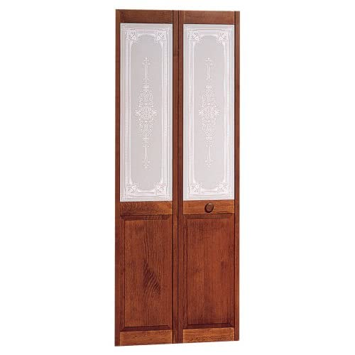 Pinecroft 30 In X 80 In Glass Over Panel Tuscany Wood: Interior Bifold Door: Amazon.com