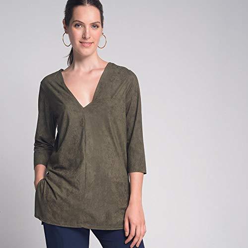 Blusa Decote Suede Verde