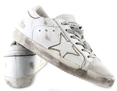 Golden Goose Scarpe Sneakers Donna Superstar White Skate Hand Stitching Italy