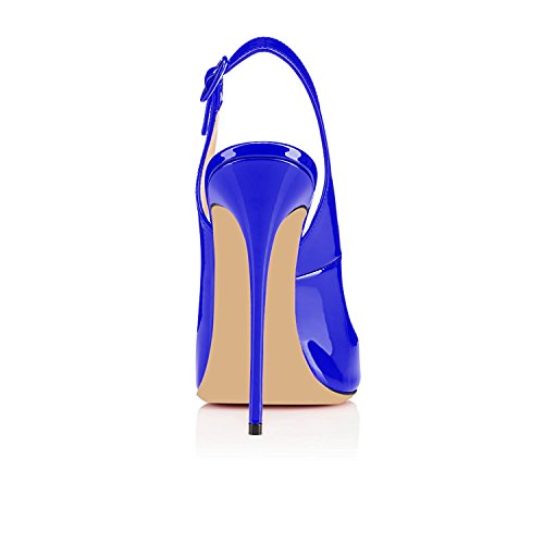 Size Pumps High Chaussures Aiguille Big Ubeauty Sandales Bleu Stiletto Heels Toe Peep Talon Rouge Escarpins Soles Femmes ZTf6qC