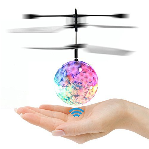 Infrared Led Lighting (Goolsky Mini Flying infrared Induction Helicopter Flash Disco Colorful Shining LED Lighting Ball Toys Gesture-Sensing for Kids Teenagers)