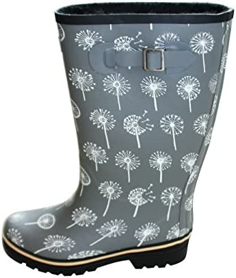 aa1f19429f38 Jileon Wide Calf All Weather Durable Rubber Rain Boots For Women-Soft    Fluffy Lining On The Inside–Fits Calf Sizes Up To