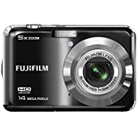 Fujifilm Finepix AX500 Digital Camera, 14 Megapixel, 5x Optical/6.7x Digital Zoom, 2.7 LCD Display, Black (Certified Refurbished)