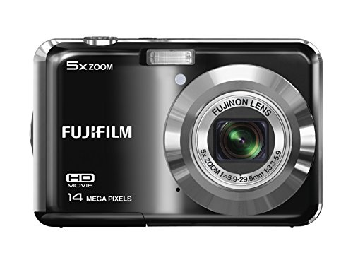 Fujifilm Finepix AX500 Digital Camera, 14 Megapixel, 5x Optical/6.7x Digital Zoom, 2.7″ LCD Display, Black (Certified Refurbished)