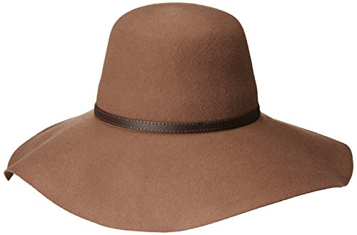 Goorin Bros. Women's Mia Wide Brim Floppy Hat with Faux Leather Band, Camel, Large