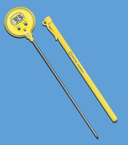 Lollipop Thermometer, TRACEABLE, F/C, -50 to 300C, 8 INCH STEM, 1.0C, Control Company 4371 by Control Products