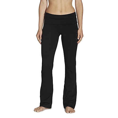 Gaiam Women's Nova Bootcut Pant, Black, Large