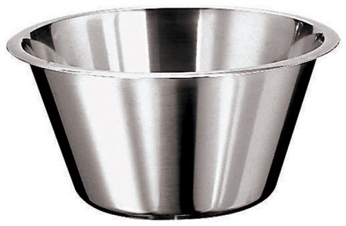 Paderno World Cuisine 17 3/4 Inch Stainless Steel Flat Bottom Mixing Bowl by Paderno World Cuisine