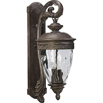 Quorum International Q7400-4 Georgia 4 Light Outdoor Wall Sconce, Etruscan Sienna