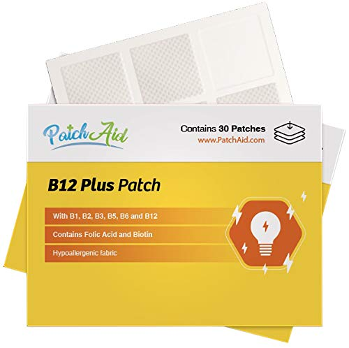 B12 Energy Plus Topical Patch by PatchAid (1-Month Supply) 1