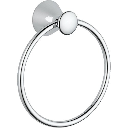 Delta Faucet 73846 Lahara Towel Ring, Polished Chrome