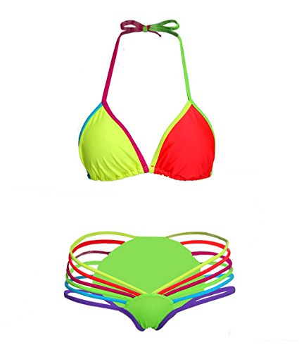 New Color Neon Light Bandage Bathing Suit Mini Micro Biki...
