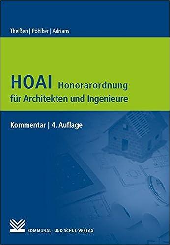 Architekt Hoai hoai honorarordnung für architekten und ingenieure amazon co uk