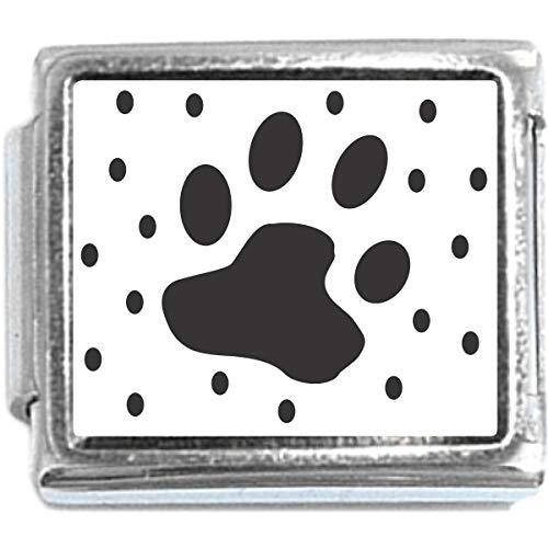 Paw Print Italian Charm (Italian Charm Bracelet)