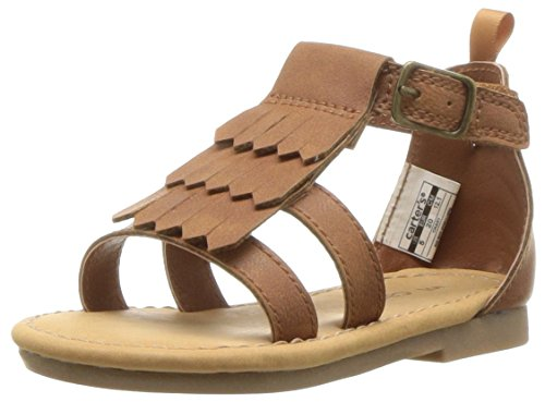 Carter's Girls' Chary Fashion Sandal, Brown, 9 M US Toddler by Carter's