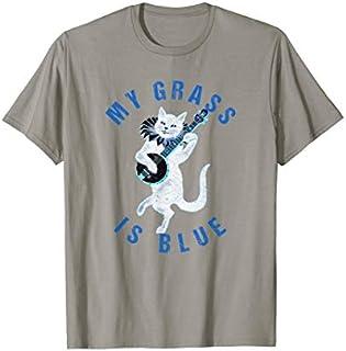 My Grass Is Blue Banjo Cat -Bluegrass Fan T-shirt   Size S - 5XL