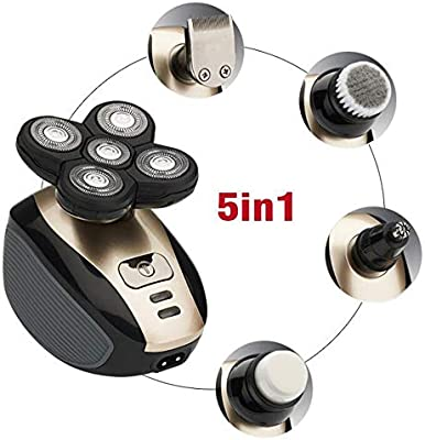 Afeitadora eléctrica 5 In1 para hombres Cuerpo lavable Cabeza ...