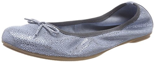 884 MARCO 42404 Denim Metallic premio Ballet Closed Blue TOZZI Flats Toe Girls' pwpOqPzrA