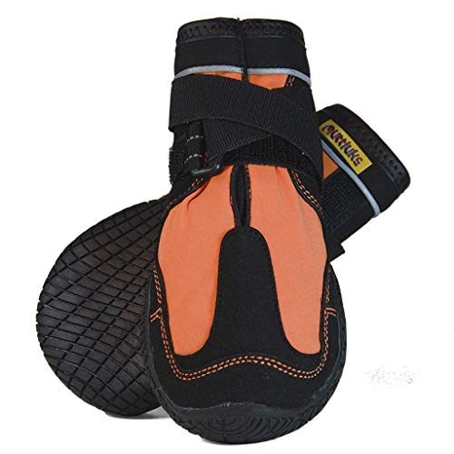 Muttluks-Snow Mushers Rugged Winter Dog Boots - Set of 2 - Size 10 (XXL) - Orange 2 pk
