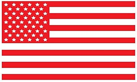 amazon com bamfdecals usa subdued single color american flag 50 stars vinyl decal large red automotive amazon com