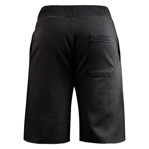 Pantaloncini Sport Elastico Amlaiworld Pantaloni Casual Estive Nero Jogging Corti Uomo Moda THWUq