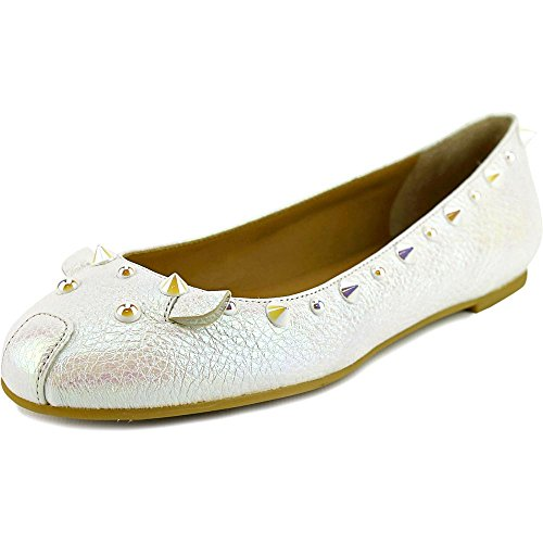 Marc by Marc Jacobs Women's Grainy Oil Slick Studded Mouse Ballerina Flats, Tinted Pearl, 36 EU (6 B(M) US Women) ()
