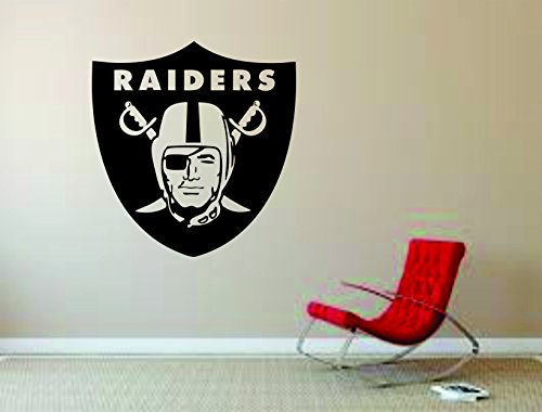 Oakland Raiders Wall Mural Vinyl Decal Sticker Decor Football Rugby Team Sport