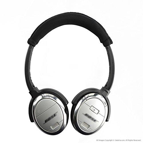 Geekria Earpad for Bose QC3 Headband Cover // Ear Cushion // Ear Cups // Ear Cover // Earpads Repair Parts // Headband Protector ON EAR Black QuietComfort 3 Headphone Replacement Ear Pad