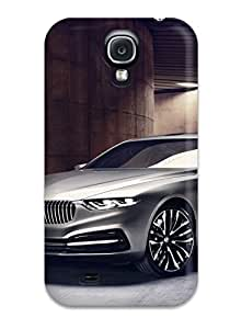 Durable Defender Case For Galaxy S4 Tpu Cover(bmw Pininfarina Gran Lusso Coupe 2013)