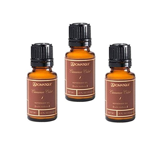 Aromatique Package of Three (3) 5 Ounce Refresher Oils - Cinnamon Cider by Aromatique
