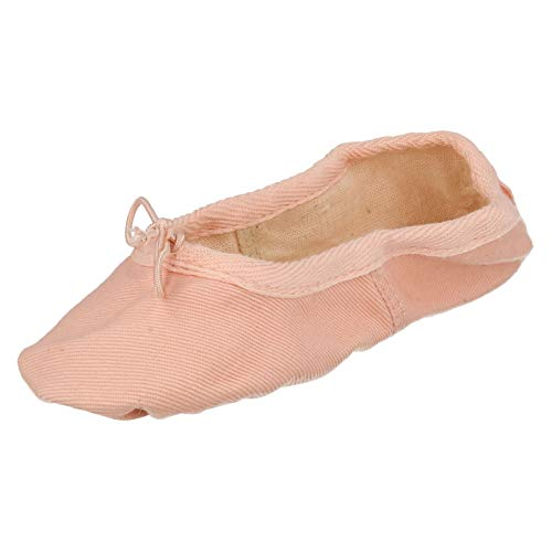 Pink Canvas Spot Childrens Ballet Shoes On Sole Soft SpSITqvw