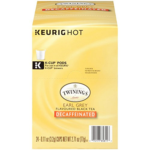 Twinings of London Decaffeinated Earl Grey Tea K-Cups for Keurig, 24 Count - Herb Bergamot