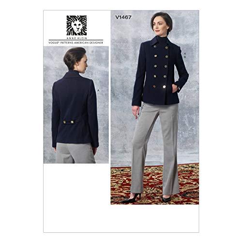 - Vogue Patterns V1467 Misses' Jacket and Pants, Size E5 (14-16-18-20-22)