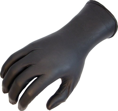 SHOWA N-Dex 9700PF Disposable Accelerator-free Nitrile Glove, Powder Free, X-Large (Pack of 50)