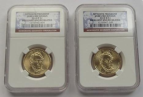 2010 P/&D Jame Buchanan  Presidential One Dollar Coins U.S Mint Rolls Coin Money