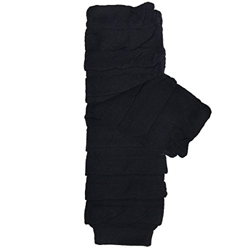 Wrapables Colorful Baby Leg Warmers - Striped Ruching Black ()