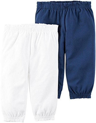 Carter's Baby Girls Bottoms 126g602, White, 18 Months Baby