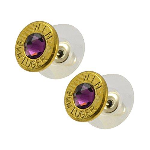 9mm bullet stud earrings - 5