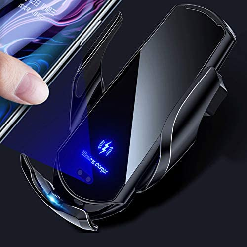 Car Wireless Charger, Fast Charging, Mounted Magnetic Charging Device, Automatic Sensor Tightening, Suitable for 99% Smart Phones, iPhone 12 Pro Max Mini 11/11 Pro Max/XS/XR/for Galaxy S20 / S10 / S9