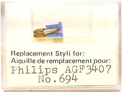 Nuevo - Aguja para Tocadiscos Philips ag3404 ag3407 ag3408 ...