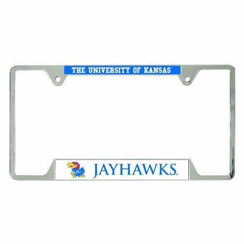 NCAA Kansas Jayhawks Metal License Plate Frame