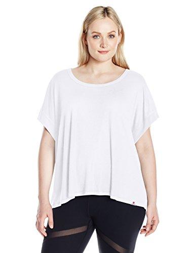 Vimmia Women's Plus Size Serenity Split Back Tee, White, 2X