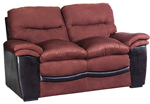 Glory Furniture G195-L Living Room Love Seat, Chocolate