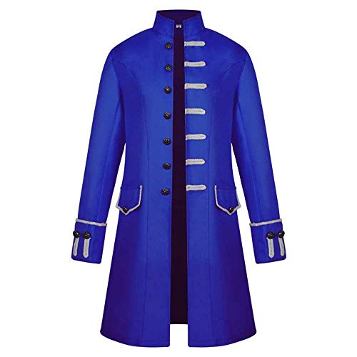 Hot Sale! Men's Winter Warm Casual Hooded Vintage Tailcoat Overcoat Outwear Steampunk Victorian Frock Coat