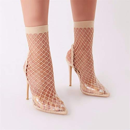 À Haut Talon Pointu Pompes Qzx Bout uk6 Engrener De Escarpins Aiguilles beige Sandales Talons eu39 Chaussure Femmes Shoes Robe wqwFzS