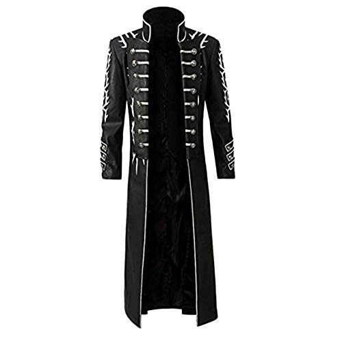 cossun Devil May Cry 5 Vergil Cosplay Costume Halloween Christmas Costume Kids (only coat,XXXL)]()