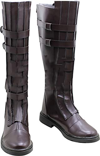 Whirl Cosplay Boots Shoes for Star Wars Anakin Skywalker Brown]()